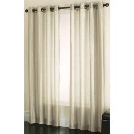 Allen Roth Edistone 7 Ft 11 In L Solid Ivory Grommet Window