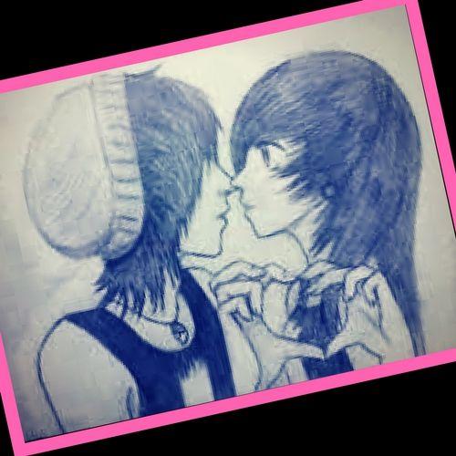 Imagenes De Emos Enamorados Para Dibujar A Lapiz Imagenes A Lapiz