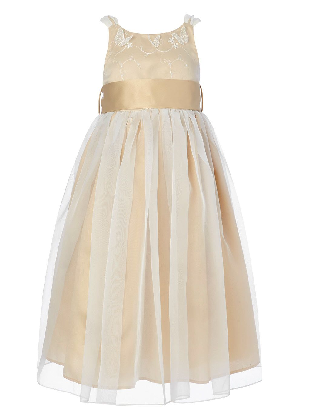 Isla Champagne Bridesmaid Dress - child dresses - young bridesmaids ...