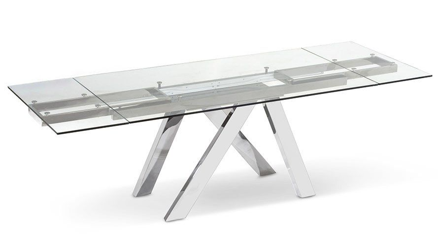 Cruz Extension Dining Table Clear Luxury Dining Tables