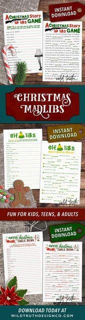 Crazy funny Christmas mad libs  printable downloads Fun for kids teens  adu Crazy funny Christmas mad libs  printable downloads Fun for kids teens  adu