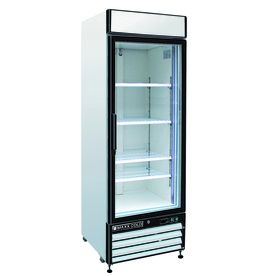 Maxx Cold 12 Cu Ft 1 Door Merchandiser Commercial Refrigerator White Mxm1 12r Commercial Refrigerators Glass Door Upright Freezer