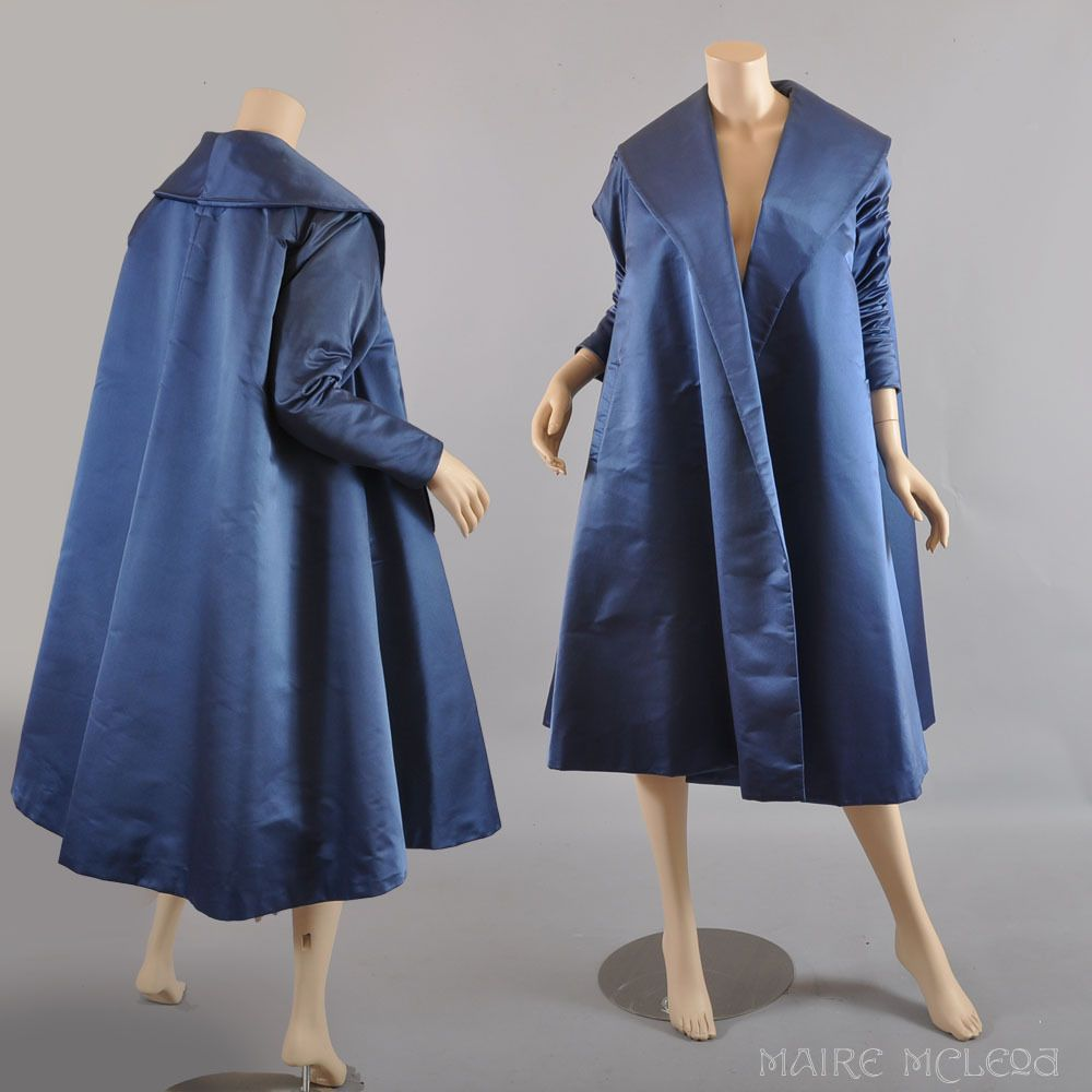 Showstopper 1950's Silk Satin Evening Coat Maire McLeod on Ruby ...