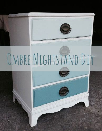 love painting ombre on vintage furniture this ombre nightstand diy