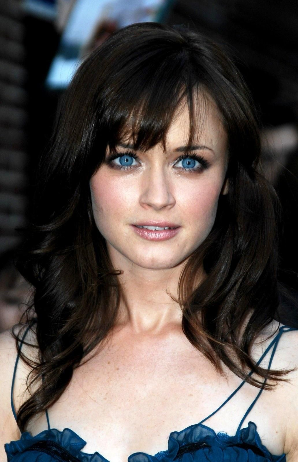 Alexis Bledel Brown Hair Blue Eyes Brown Hair Blue Eyes Pale