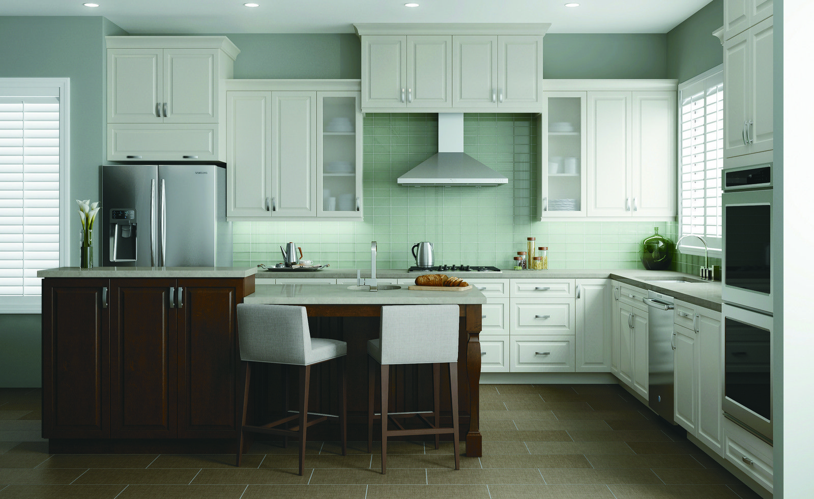 Best Kitchen Gallery White Shaker Kitchen Kitchen Cabinets 400 x 300