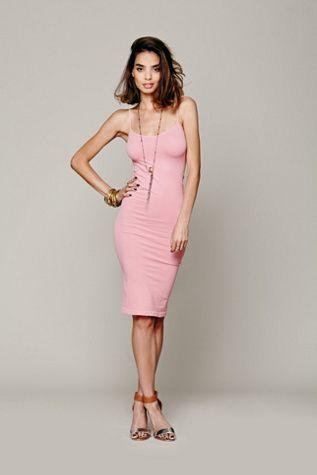 9b66e842e3e4 Free People Intimately Womens Tea Length Seamless Slip   Fashion ...