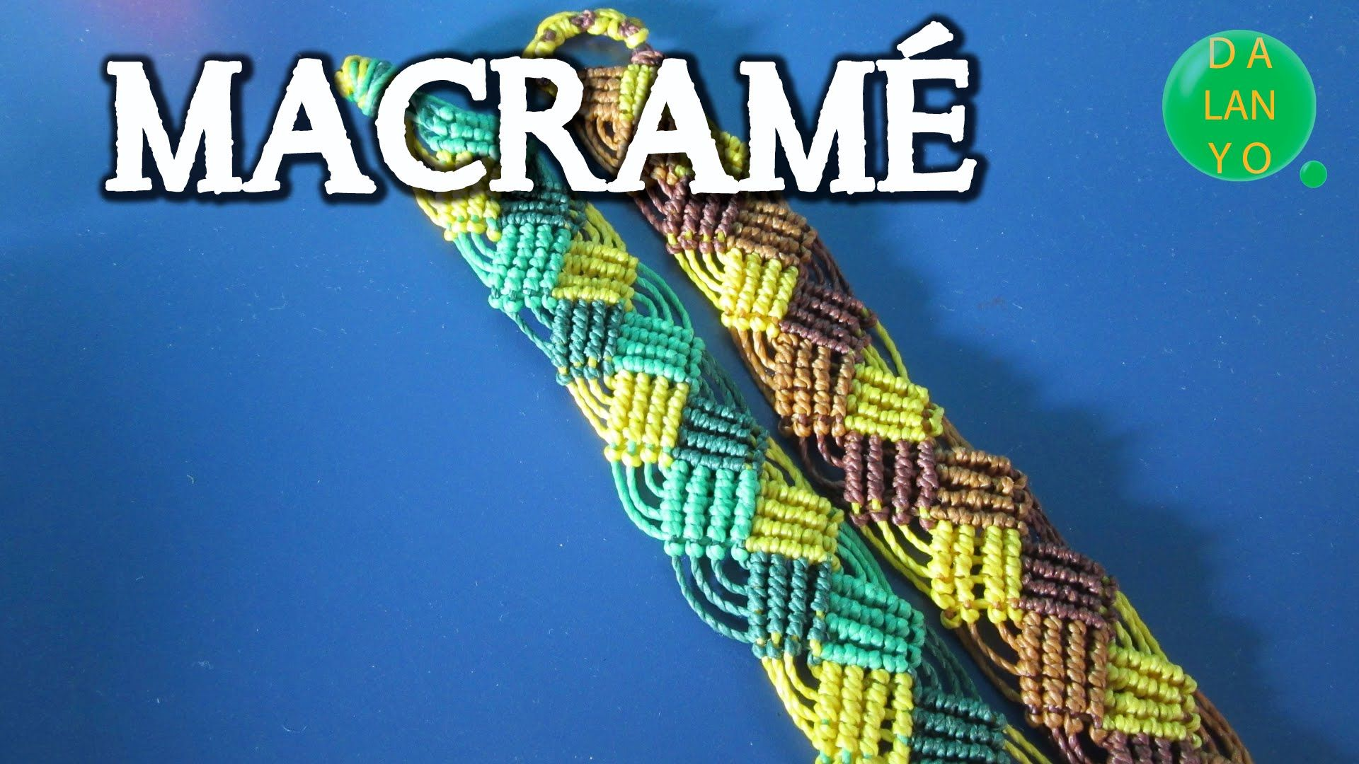 a9574383aa6a Macrame modelo trenza de 3 | Macrame | Macramé, Pulseras macrame y ...