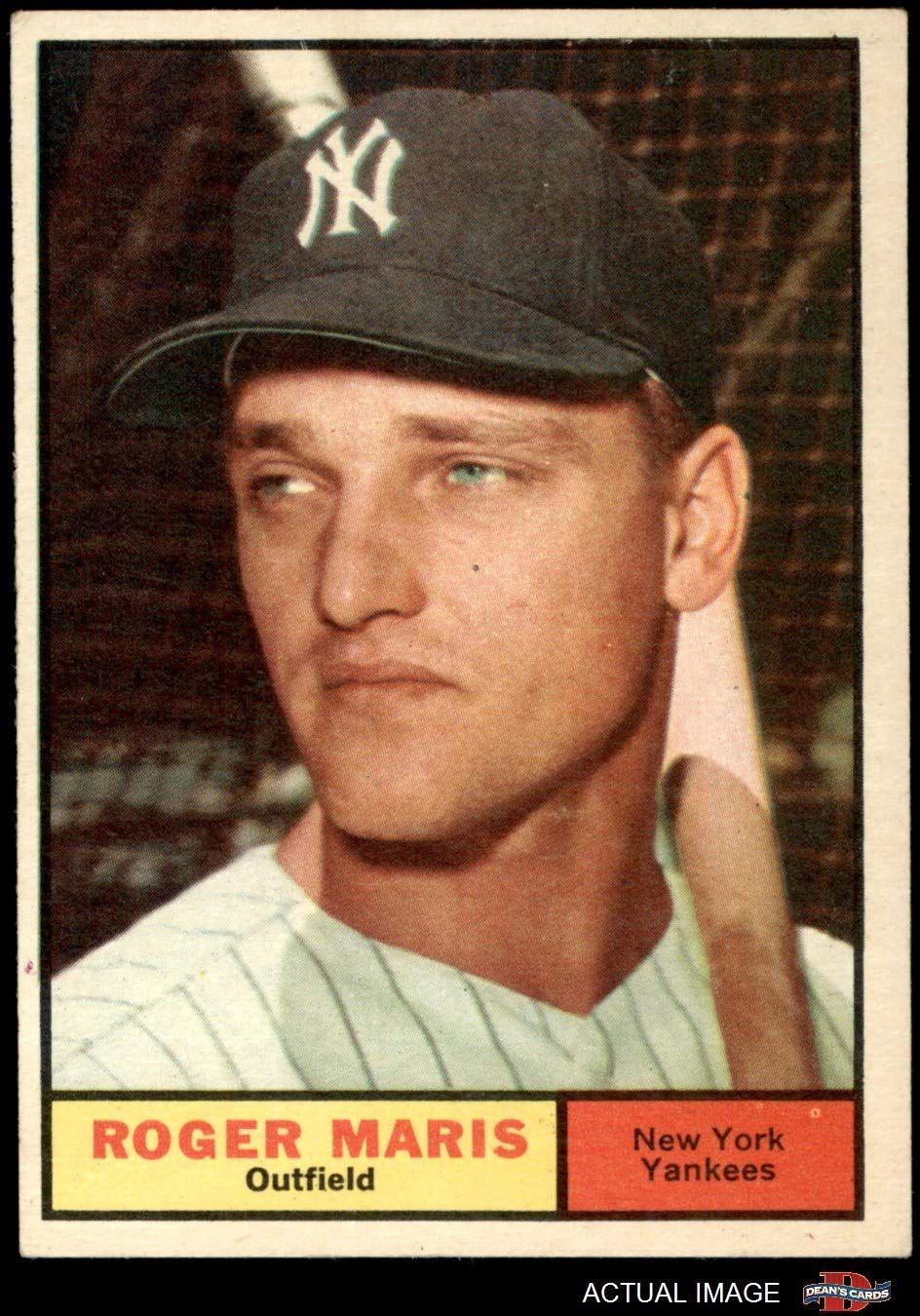 1961 topps 2 roger maris new york yankees baseball card