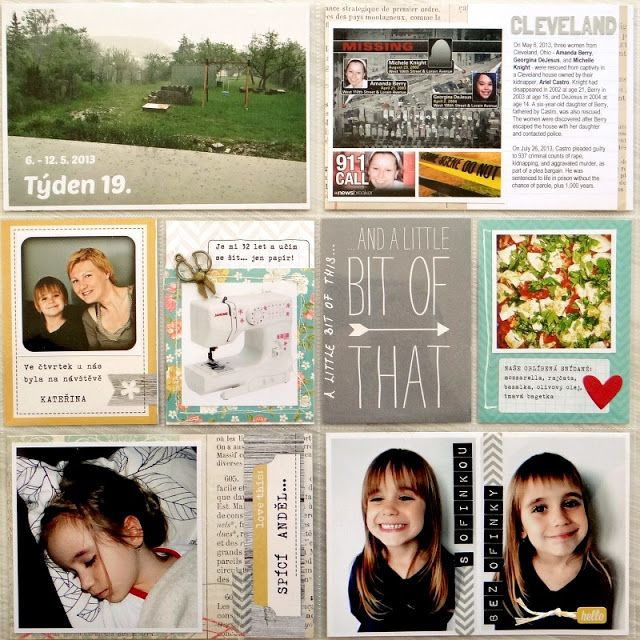 Project Life - Week 19 (left page)