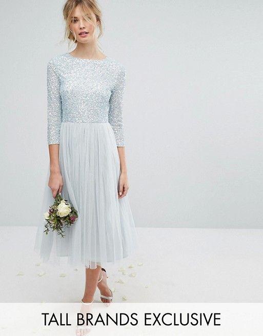b021ea5283f1 Discover Fashion Online Hellblaue Kleider, Pailletten Kleid, Schöne  Kleider, Asos Kleider Hochzeit,