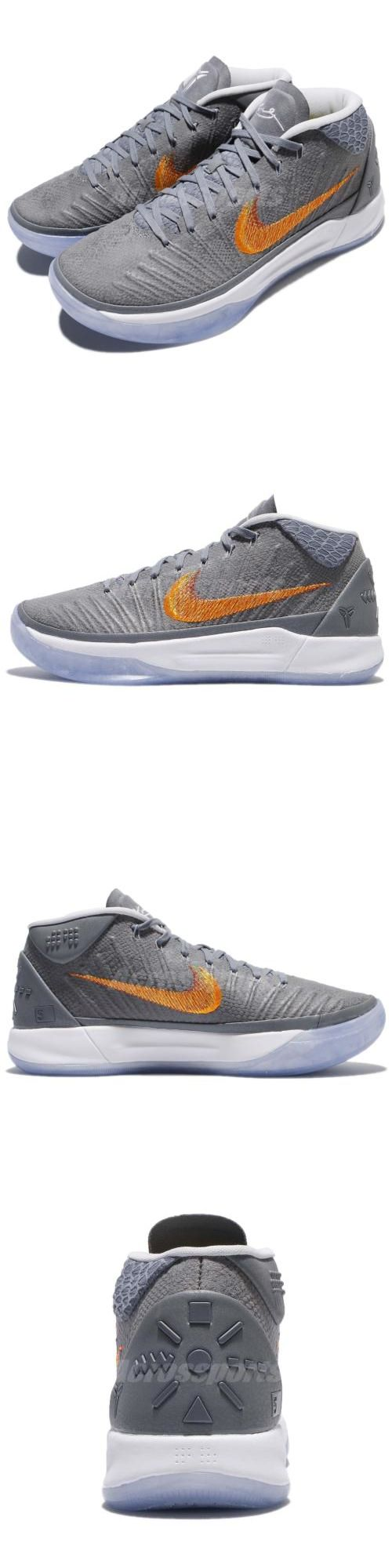 b4a088d6fb97 Clothing Shoes and Accessories 158963  Nike Kobe Ad Ep Mid Grey Snake  Chrome Habanero Bryant Men Basketball 92…