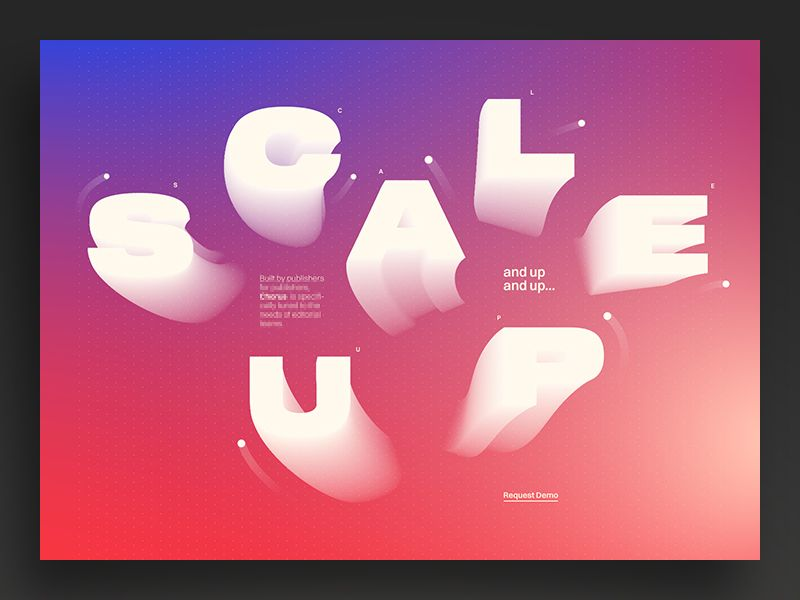 Scale Up Colour Version Typography Poster Illustrations Posters Concept Design