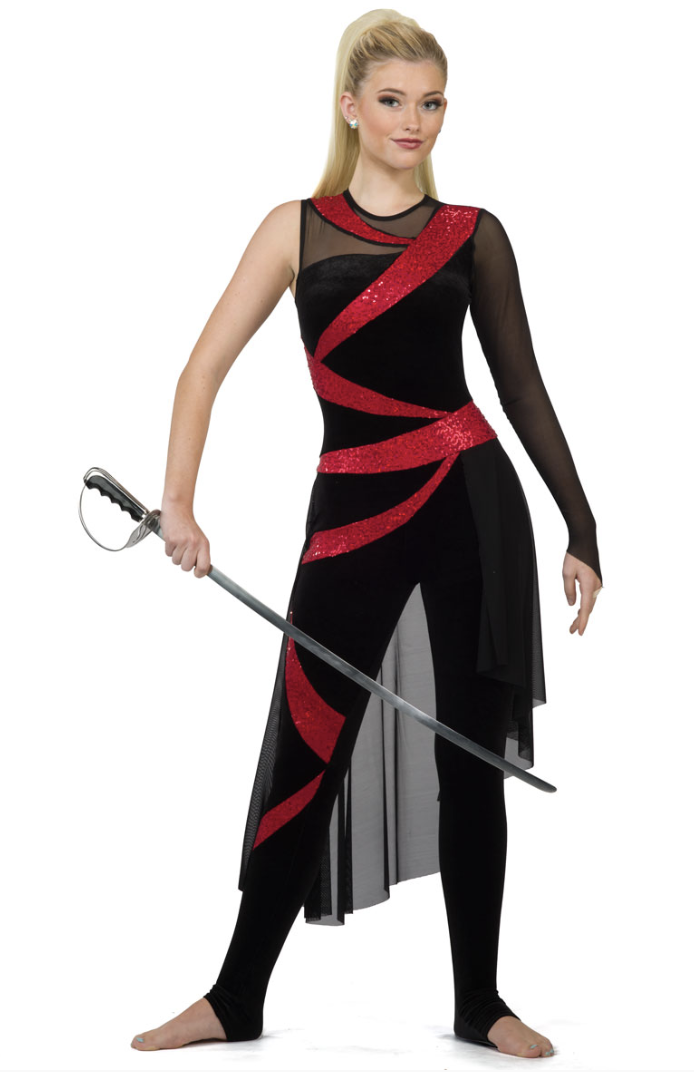 Color guard uniform  Would use for a latin show  | Latin