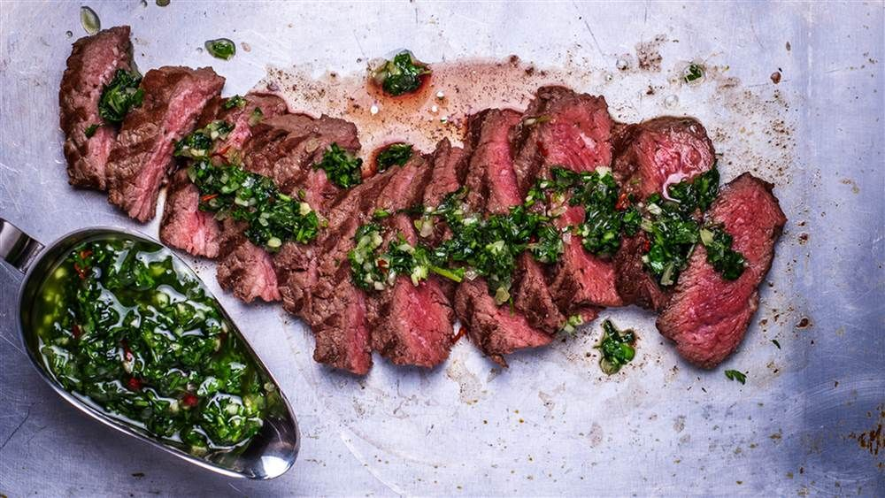 Maya's Skirt Steak with Chimichurri Sauce | Katie's Kitchen