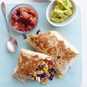 Easy Chicken-Rice Burritos; 25 quick lunchboxes lunches - different from usual