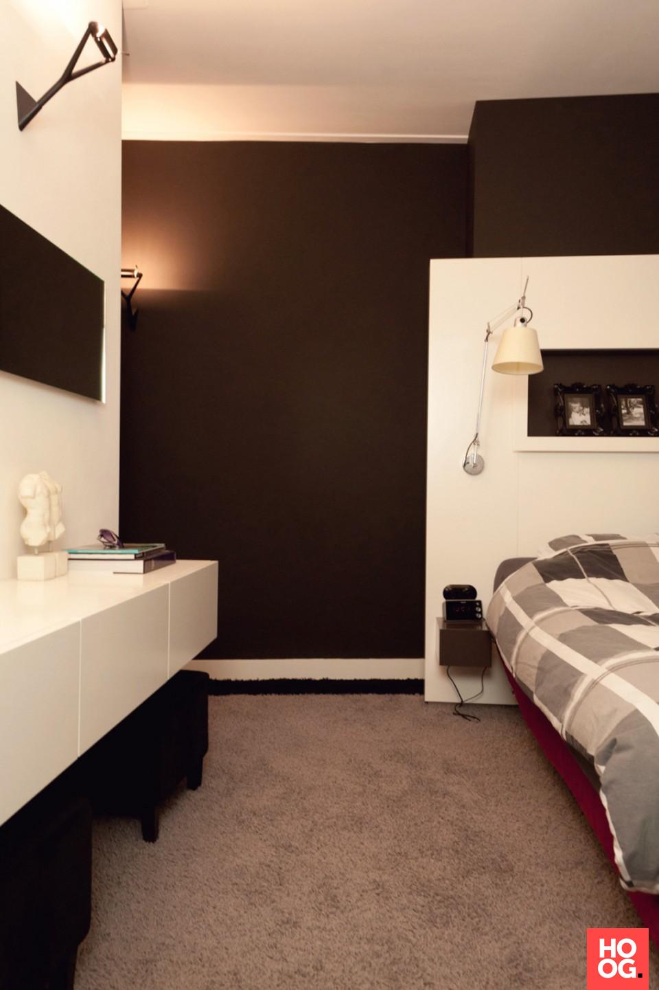 Moderne slaapkamer met vloerbedekking | slaapkamer design | bedroom ...