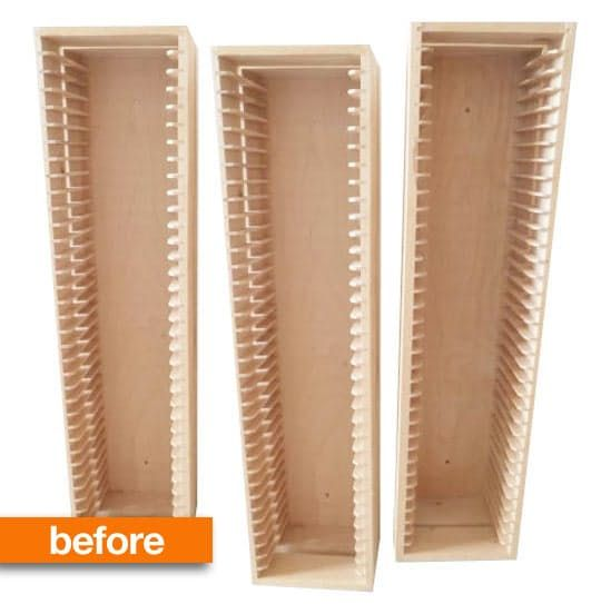Before & After: IKEA CD Storage Racks Turned Into Gadget Display