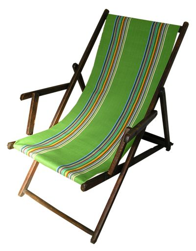 beech deckchair covered in deckchairstripes green. Black Bedroom Furniture Sets. Home Design Ideas