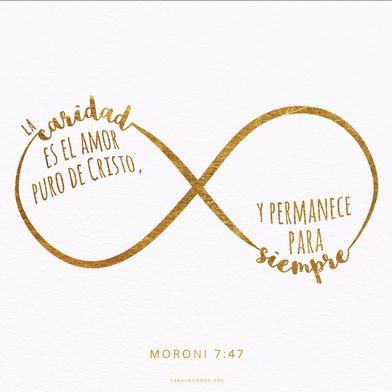 La caridad es el amor puro de Cristo, y permanece para siempre ...