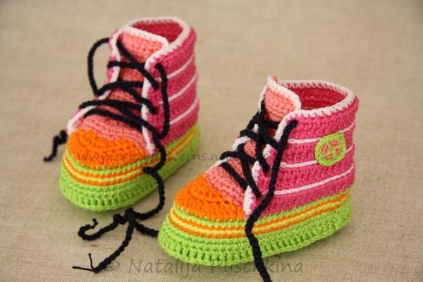 Häkelanleitung für Jungs & Mädchen Babychucks | baby Schuhe ...
