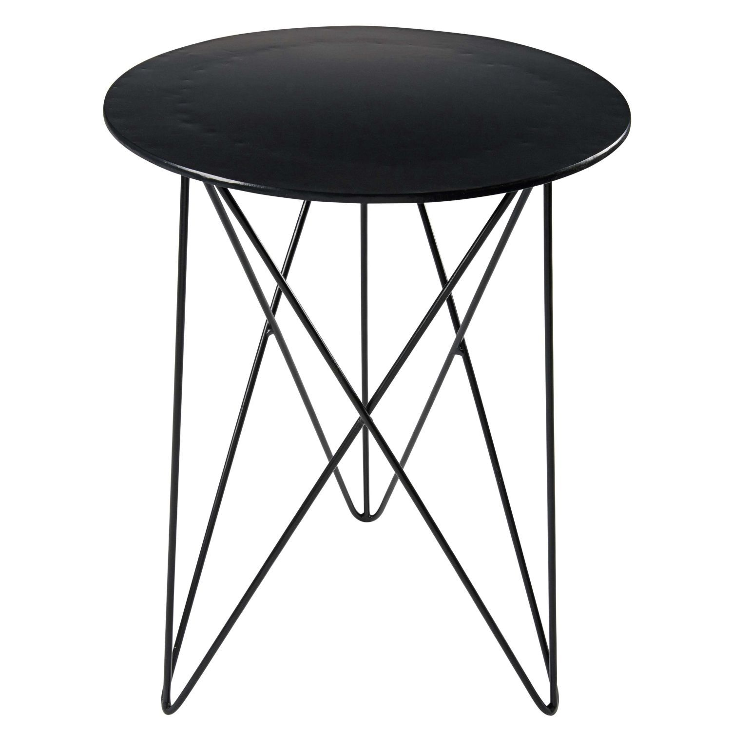 Black Metal Side Table Beistelltisch Metall Schwarz