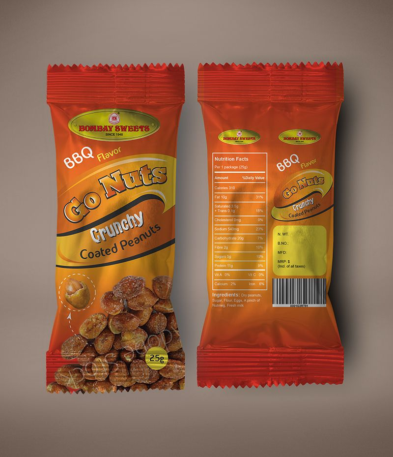 Download Pouch Design For Coated Peanuts Chip Packaging Nuts Nutrition Facts Flavored Nuts