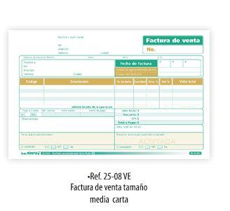 formato de facturas de compra