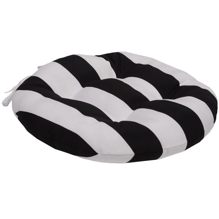 Blackstriped round seat cushion round seat cushions