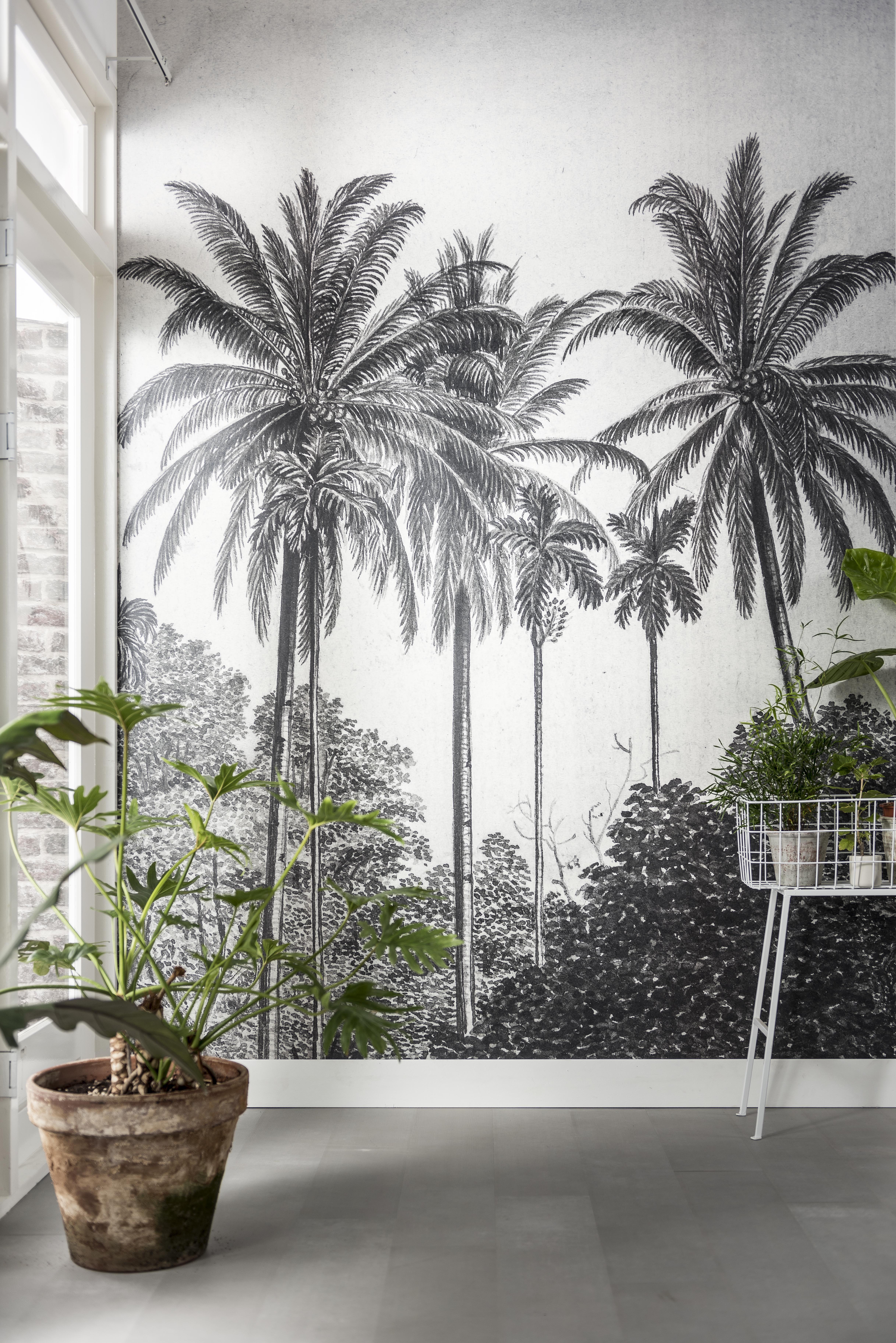 Green House in 2019  KARWEI  Behang ideen  Woonkamer