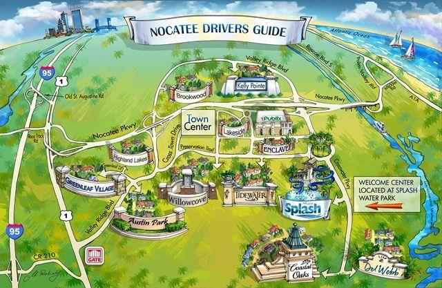 Nocatee Driver S Map Coastal And Beach Homes Decor