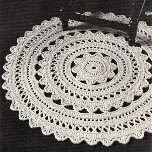 Doily Rug Crochet PDF Pattern | rugs | Pinterest | Teppich häkeln ...
