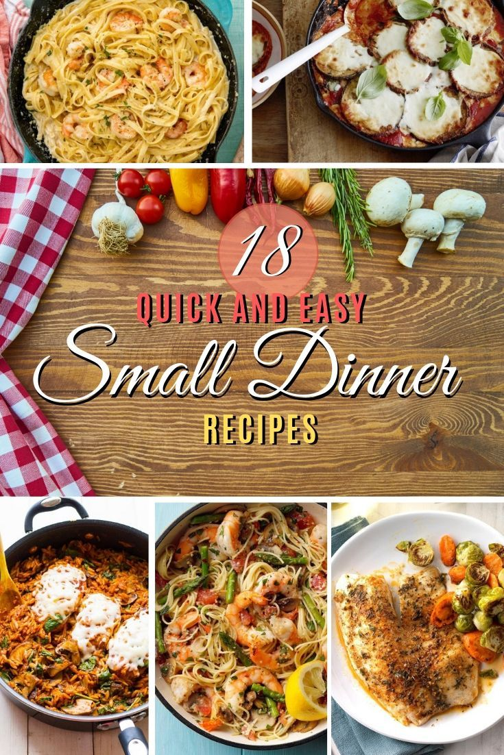 Quick and Easy Small Dinner Recipes images