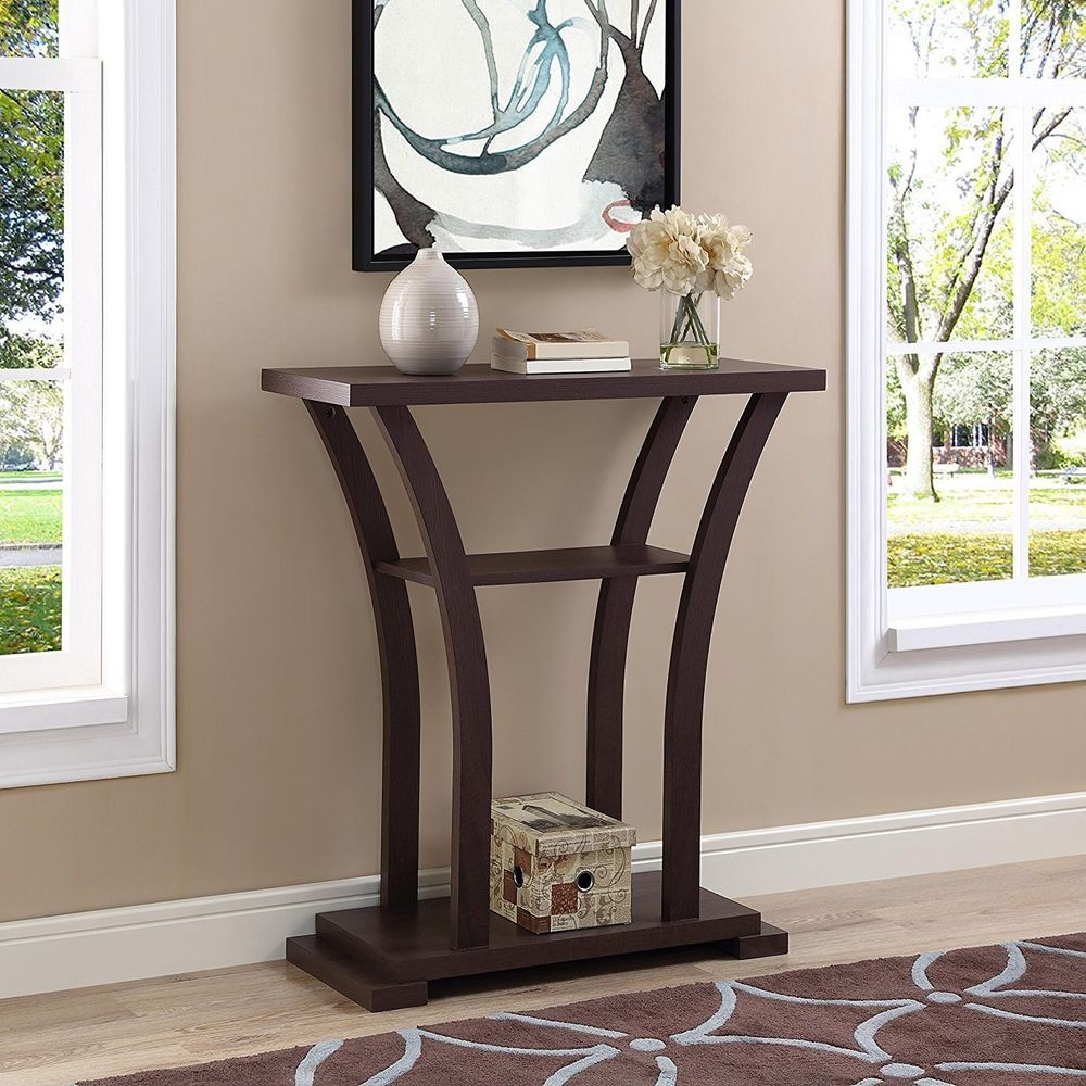 Hallway entry table console furniture modern accent contemporary