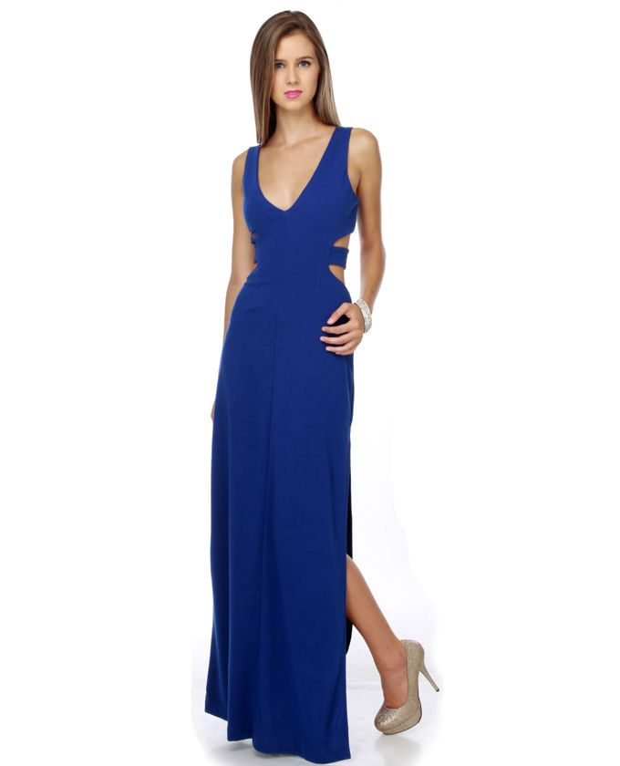 Cobalt-Blue-Maxi-Dress | Blue Maxi Dress | Pinterest | Blue maxi ...