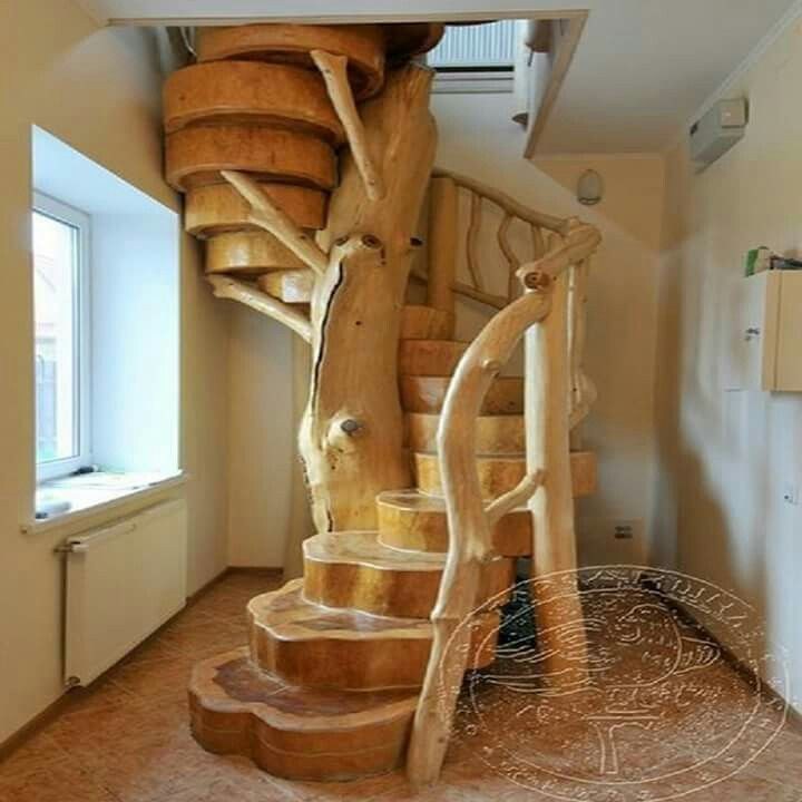 Best Stair Case Staircase Design Rustic House Wooden Stairs 400 x 300