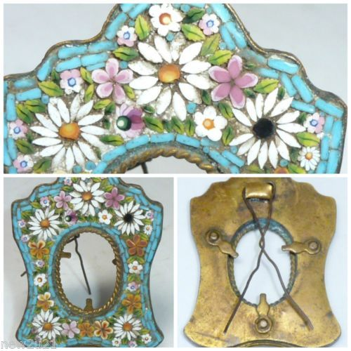 Antique Italian Micro Mosaic Miniature Picture Photo Frame