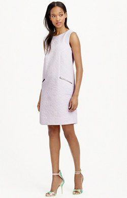 Jacquard zip-pocket shift dress