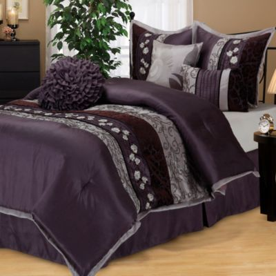 Riley Comforter Set In Purple Bedbathandbeyond Com For The Home