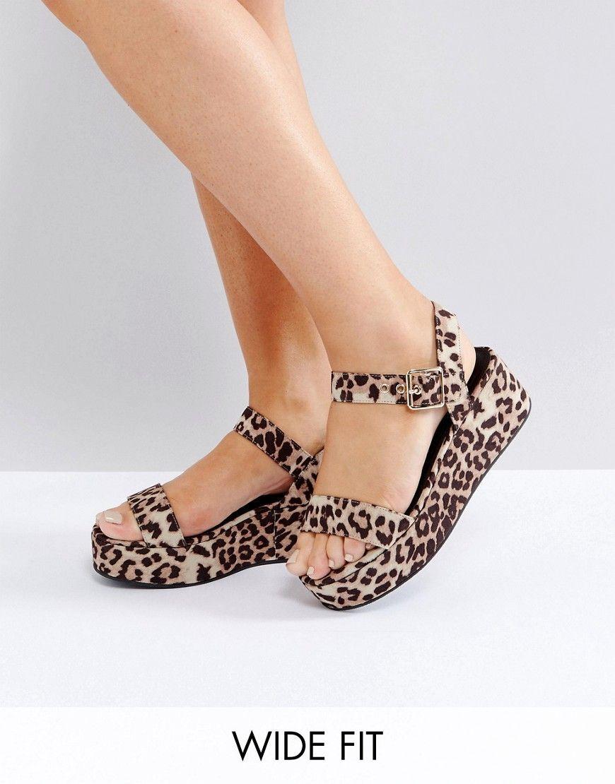 f57b9d29a6cc ASOS TOUCAN Wide Fit Wedge Sandals - Multi