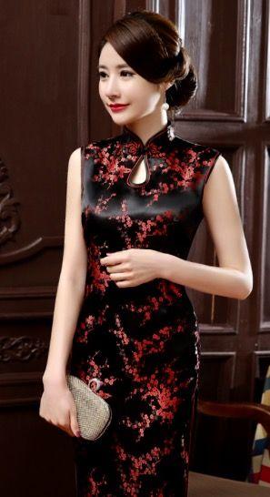 Dress Silk Satin Mandarin Chongsum