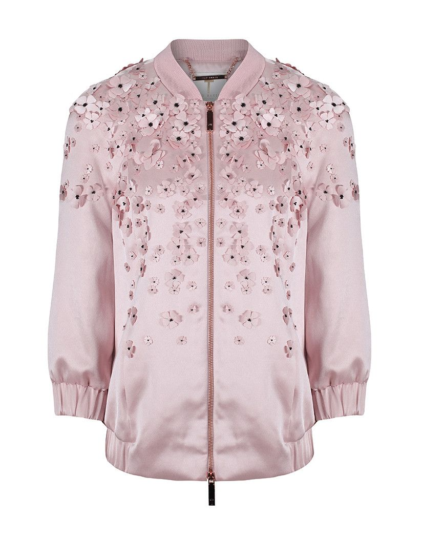 The Ted Baker Women S Bakela Satin Bomber Jacket In Pink Is An All Feminine Detailed Bomber That Ll G Country Attire Ted Baker Outfit High Fashion Street Style [ 1050 x 824 Pixel ]