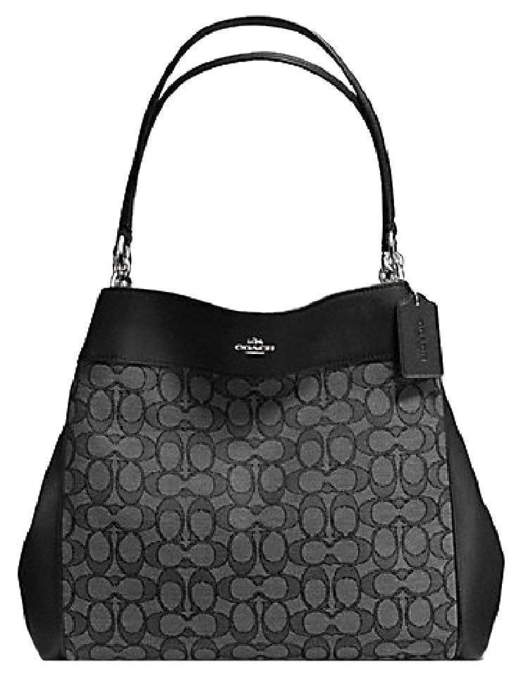 5062c7e150 ... where can i buy coach large outline signature lexy shoulder bag tote  hobo brown black gray ...