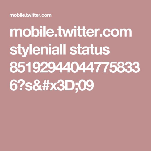 mobile.twitter.com styIeniall status 851929440447758336?s=09