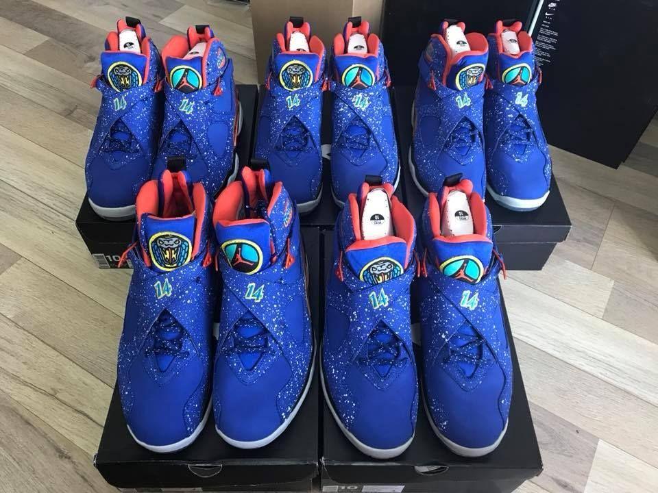 1e9e7fa53e7 Air Jordan 8 Retro DB Doernbecher This sneaker features a mixture of Hyper  Blue, Electro