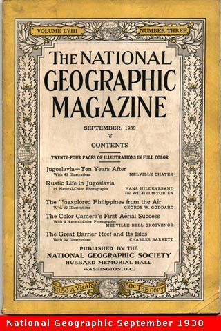 The National Geographic Magazine 1st Issue 1888 National