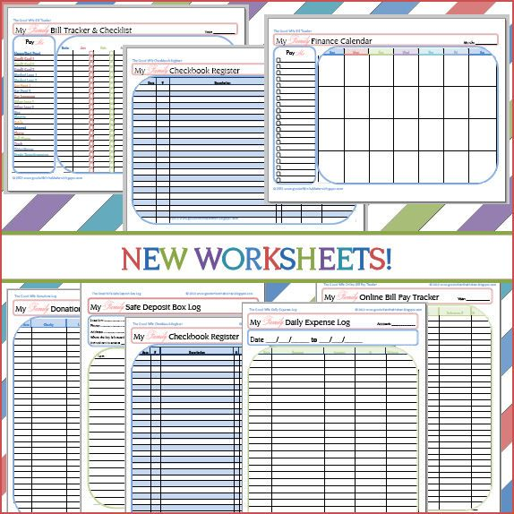 The Good Wife New Budget Worksheets! Including Bill Tracker and - free download budget spreadsheet