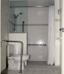 Handicap Access Showers A Handicap Access Shower Is Easier To Get In And  Out Of Than A Conventional Shower Or A Walk In Bathtub.
