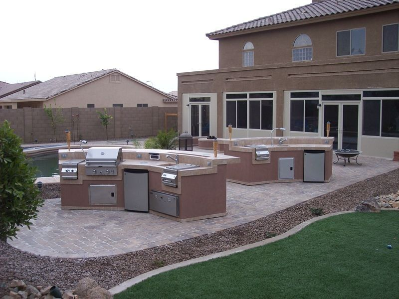 Superieur BBQ Island | My Backyard!! | Pinterest | Bbq Island, Concrete Pavers And  Construction