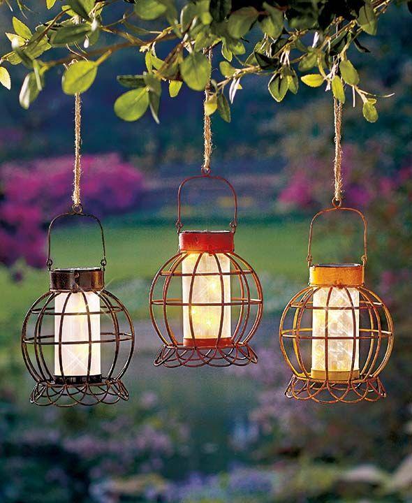 Rustic Solar Garden Lanterns Solar Garden Lanterns Solar Landscape Lighting Solar Garden Decor